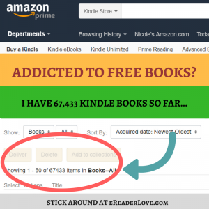 {Think you might be addicted to collecting free Kindle books? Check out how many books Niki has accrued as of 1/24/2018.}