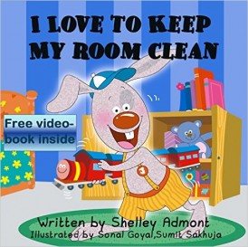 Children's book I LOVE TO KEEP MY ROOM CLEAN